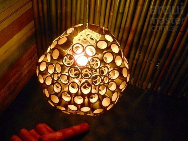 lámpara colgante con cañas de bambú-eltallerdejazmin