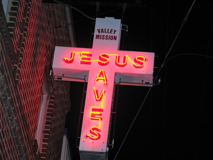 """""Jesus Saves"" in Neon"" by Taber Andrew Bain"