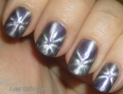 magnetique grey magnetic nail polish