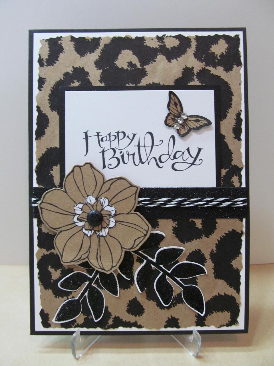 Savvy Handmade Cards Leopard Happy Birthday Card – Leopard Print Birthday Cards