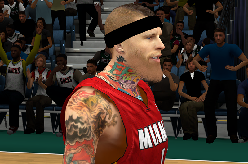 NBA 2K14 Birdman Chris Andersen Hair & Beard Mod