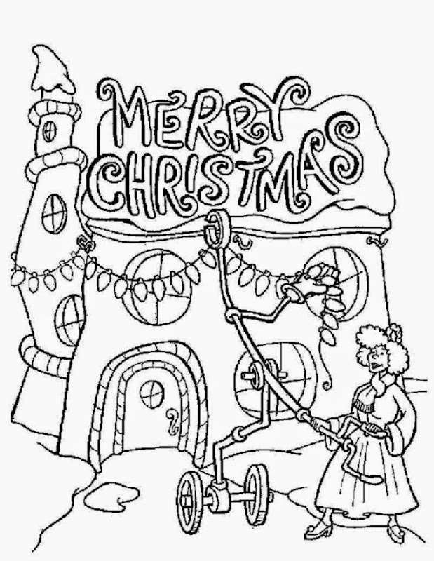 Christmas Pictures To Color And Print | Free Coloring Pictures