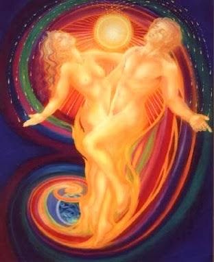 В мужчине-Бог,а в женщине-Богиня.