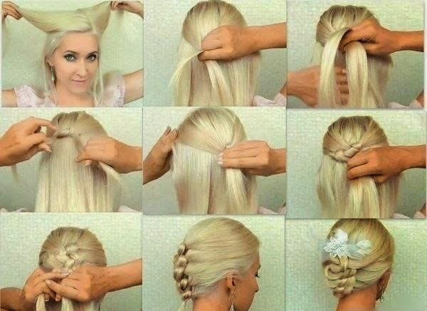 Fashion On Run Knotted Braid Updo Hairstyle Tutorial