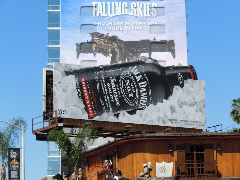 Jack Daniels bottle billboard