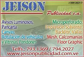 JEISON PUBLICIDAD.C.A en Paginas Amarillas tu guia Comercial