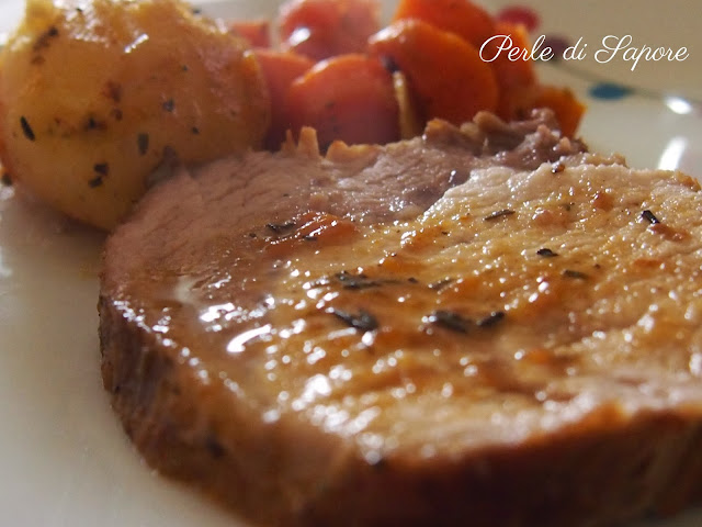 arrosto alle spezie con contorno di patate e carote