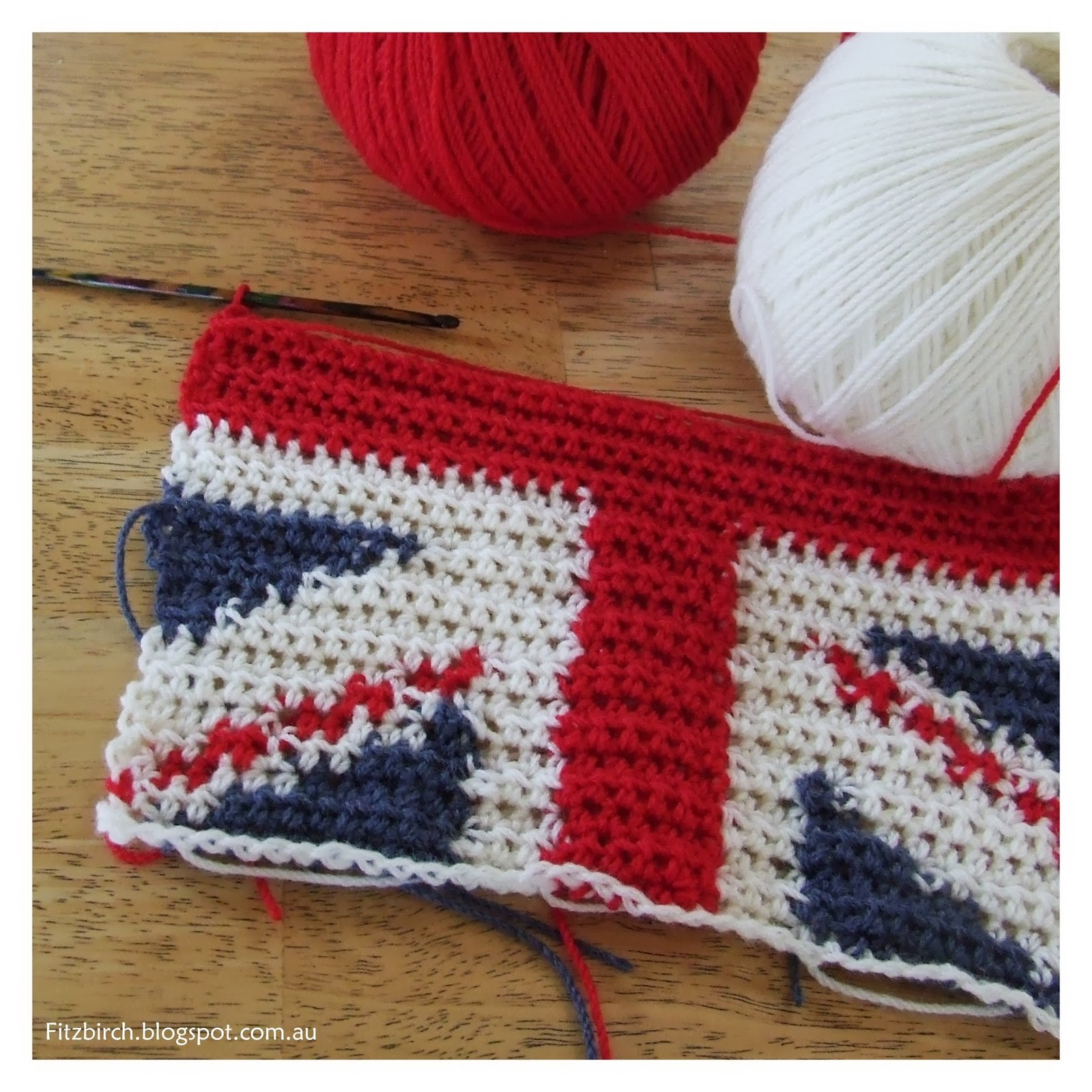 Knitting Pattern For Union Jack : FitzBirch Crafts: Cool Britannia Crochet Cushion Cover