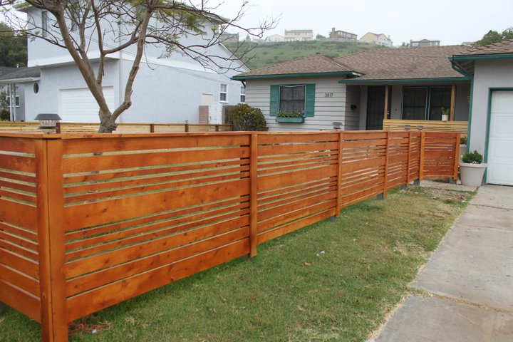 horizontal wood fence diy had horizontal fencing