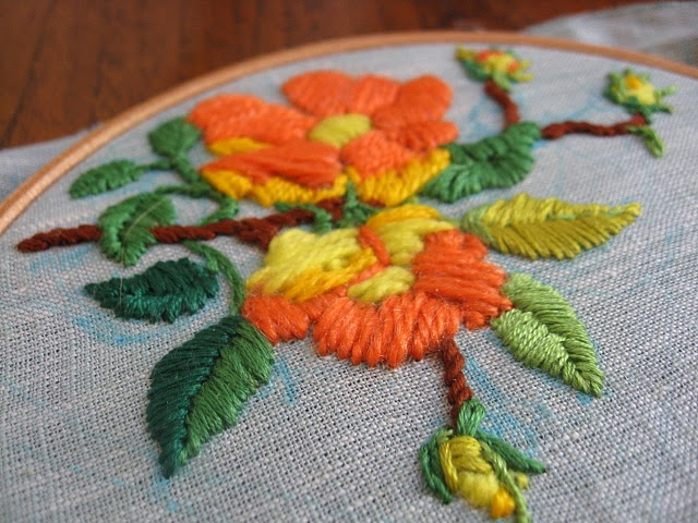 Misako Mimoko Embroidery Workshop  Picnic  Filling Stitches