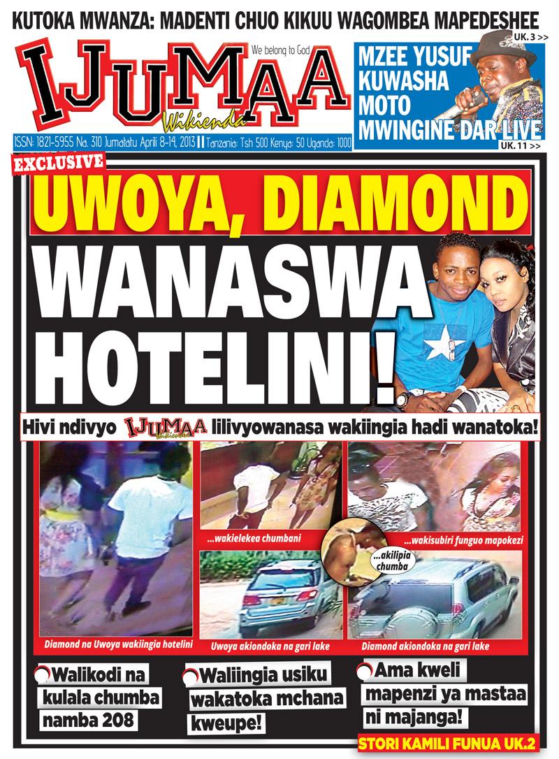 UDAKUZZ!! IRENE UWOYA ANASWA NA BABA KIJACHO DIAMOND HOTELINI!!!!!