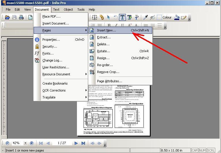 Как добавить страницы в pdf файл