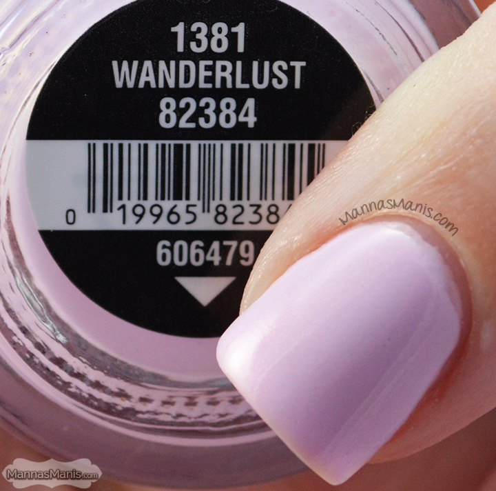 China Glaze Road Trip Wanderlust, a shimmery purple nail polish