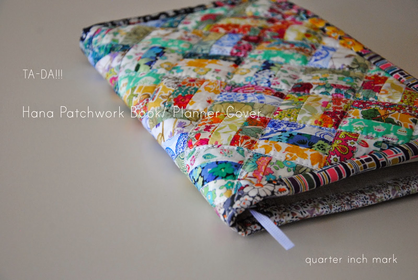 Patchwork Book Cover Pattern : Quot mark tutorial hana patchwork book planner cover