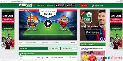HDViet Football Mobifone - thỏa niềm đam mê bóng đá