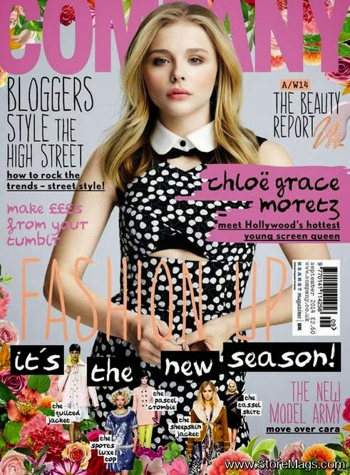 Chloe Grace Moretz covers Company Magazine UK September 2014