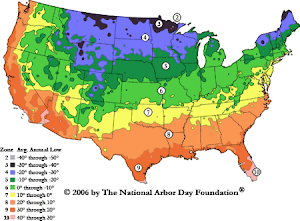 US HARDINESS ZONE MAP