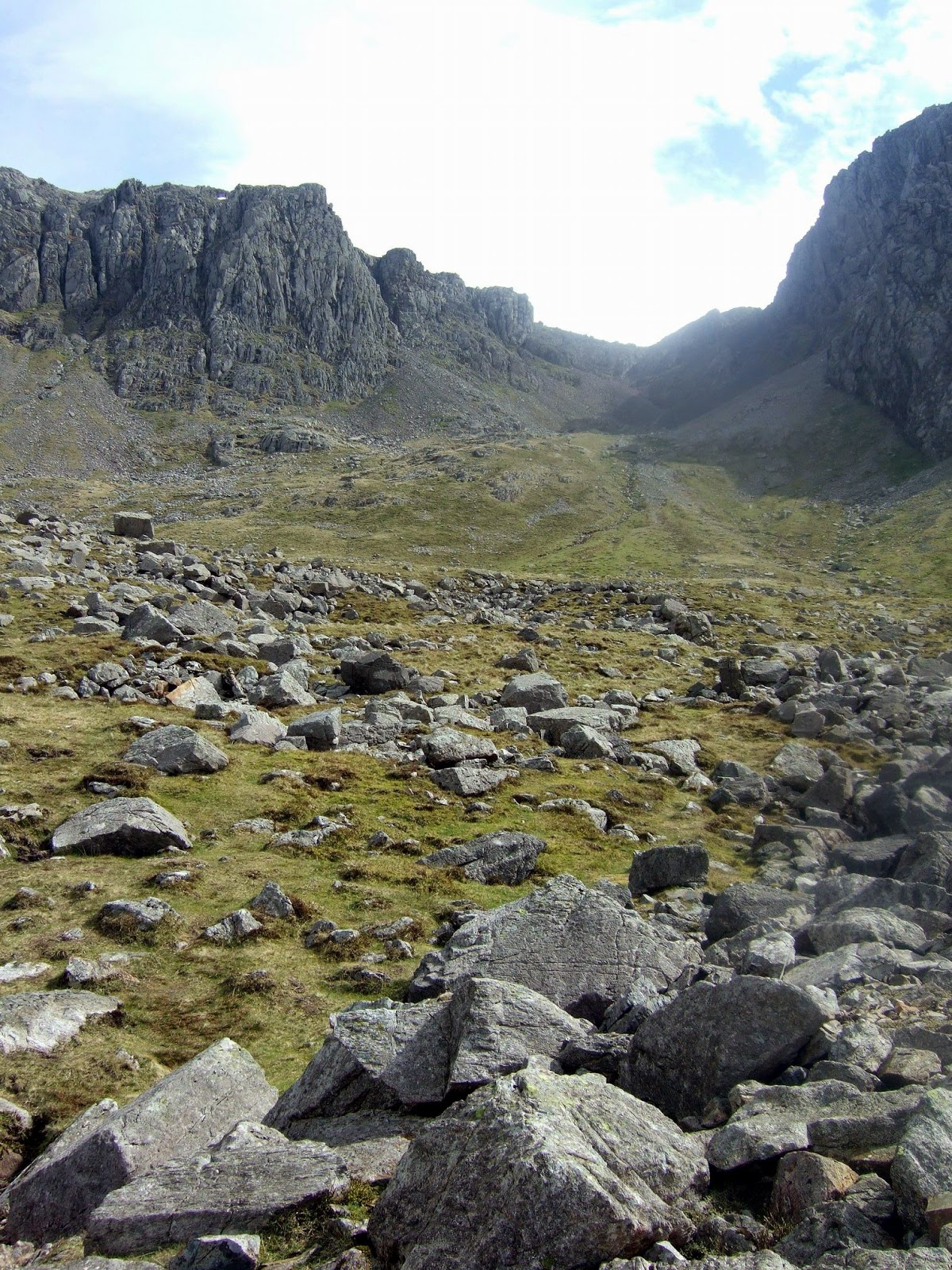 on the path to scafell pike