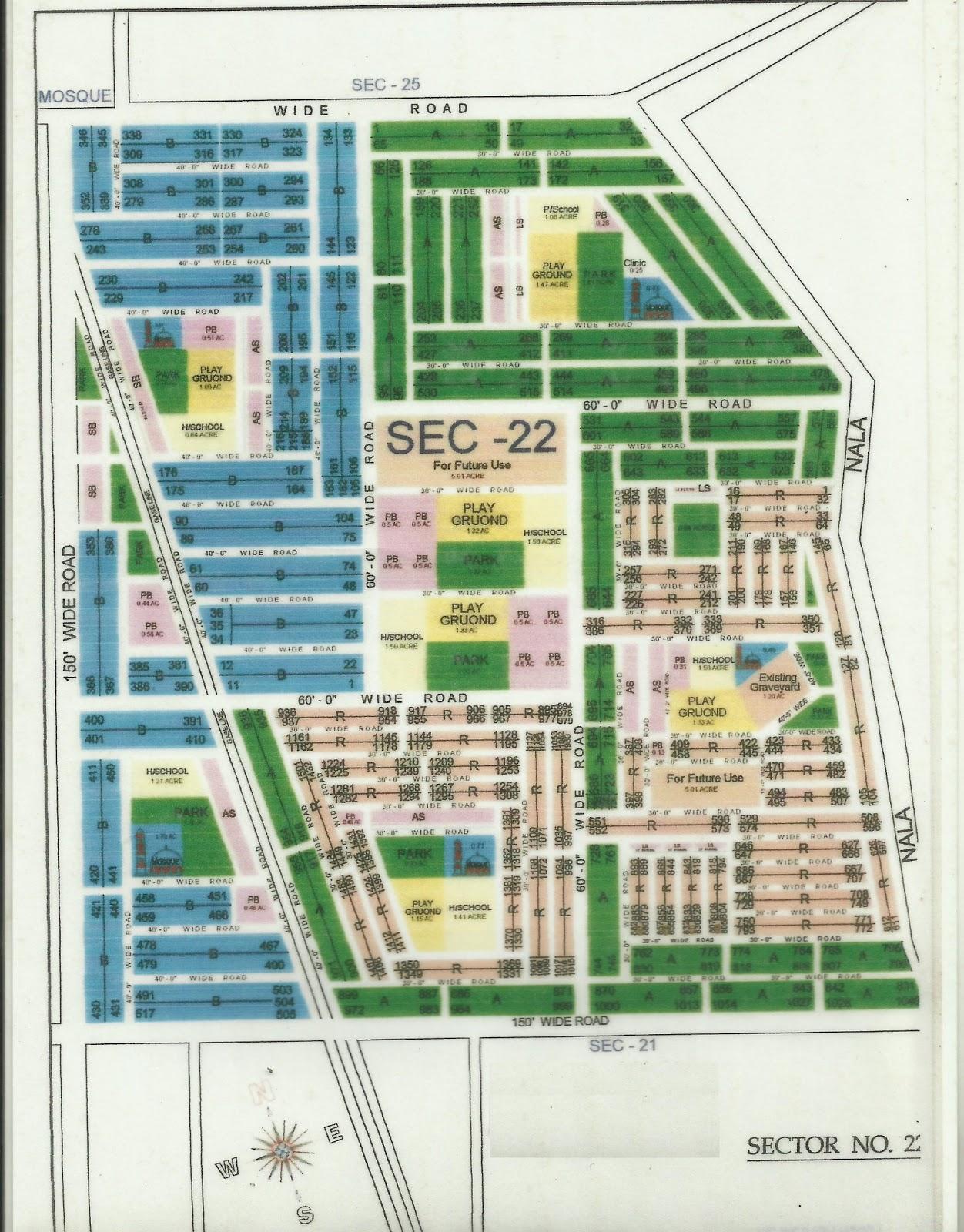 mda map sector 22