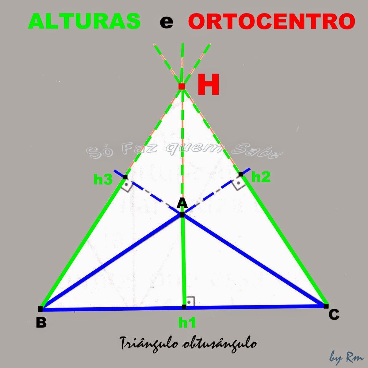 Triângulo obtusângulo com o ortocentro externo a ele