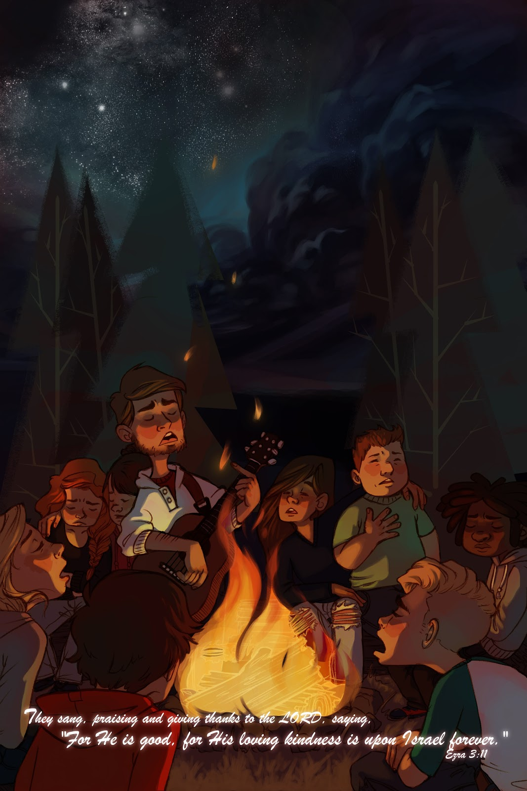for the birds illustration Campfire Hymns