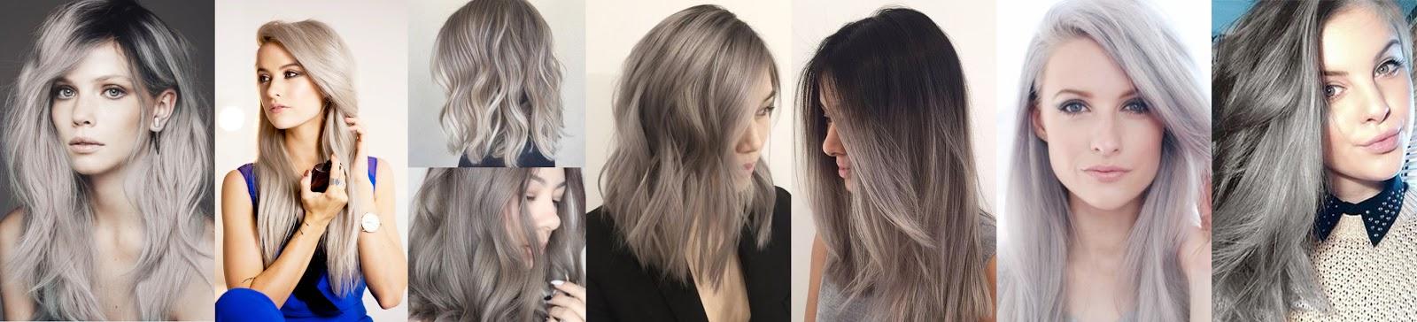 Cheveux chatain clair gris