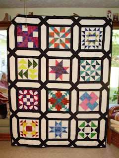Sample Quilt, Trellis Sashing