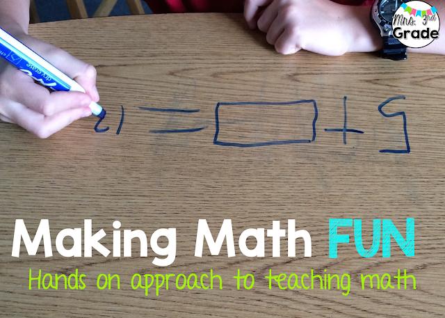 Making Math Fun - Hands on approach to teaching math