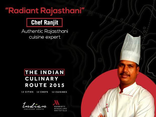 Indian Culinary Route Whitefield Marriott Bangalore, Chef Ranjit