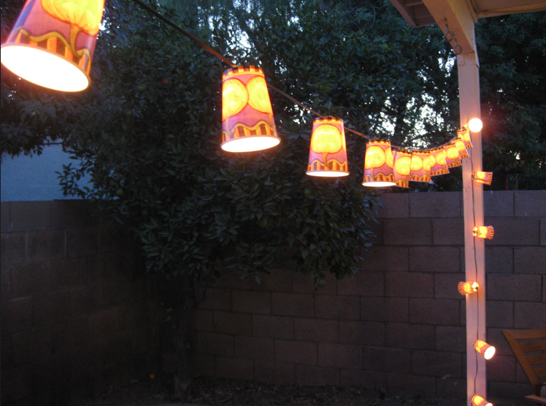Michaels Halloween String Lights : Julie + Michael: DIY Halloween Decor