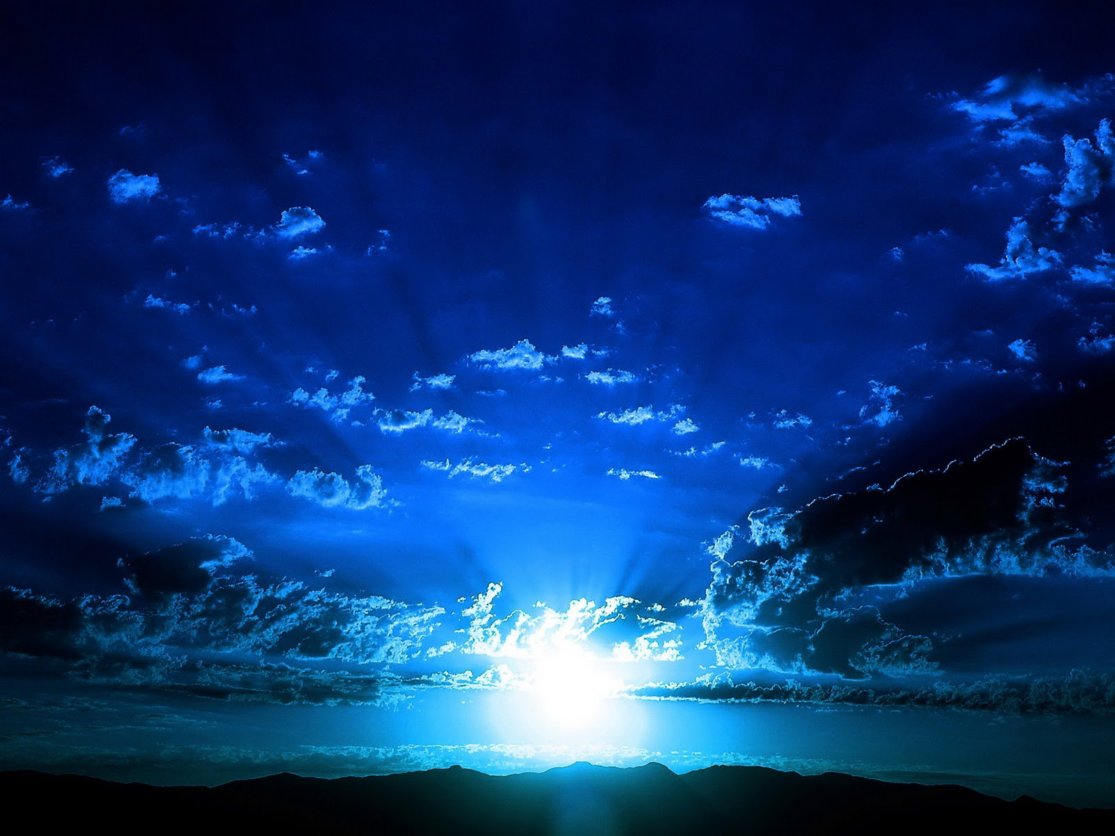 blue night sky background - photo #27
