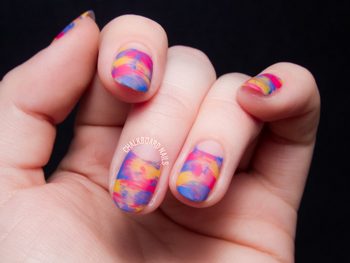 Easy Sideswipe Nail Art Tutorial by @chalkboardnails