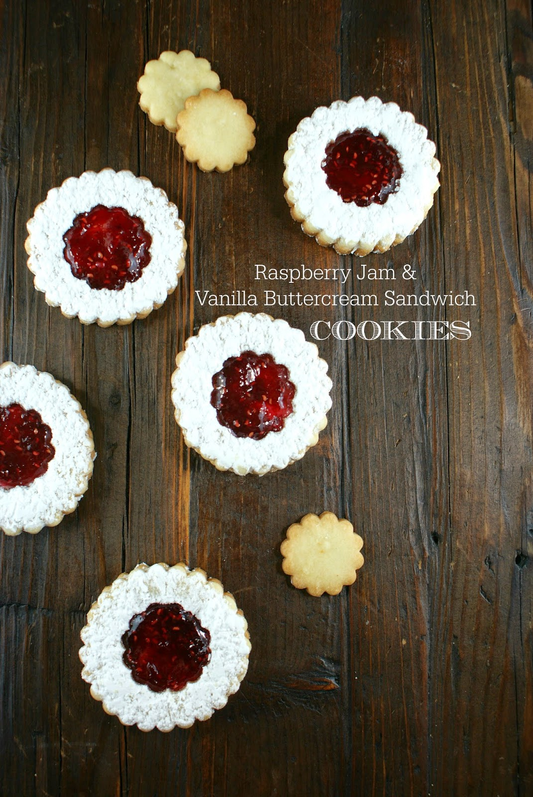 raspberry jam & buttercream sandwich cookies | secret recipe club