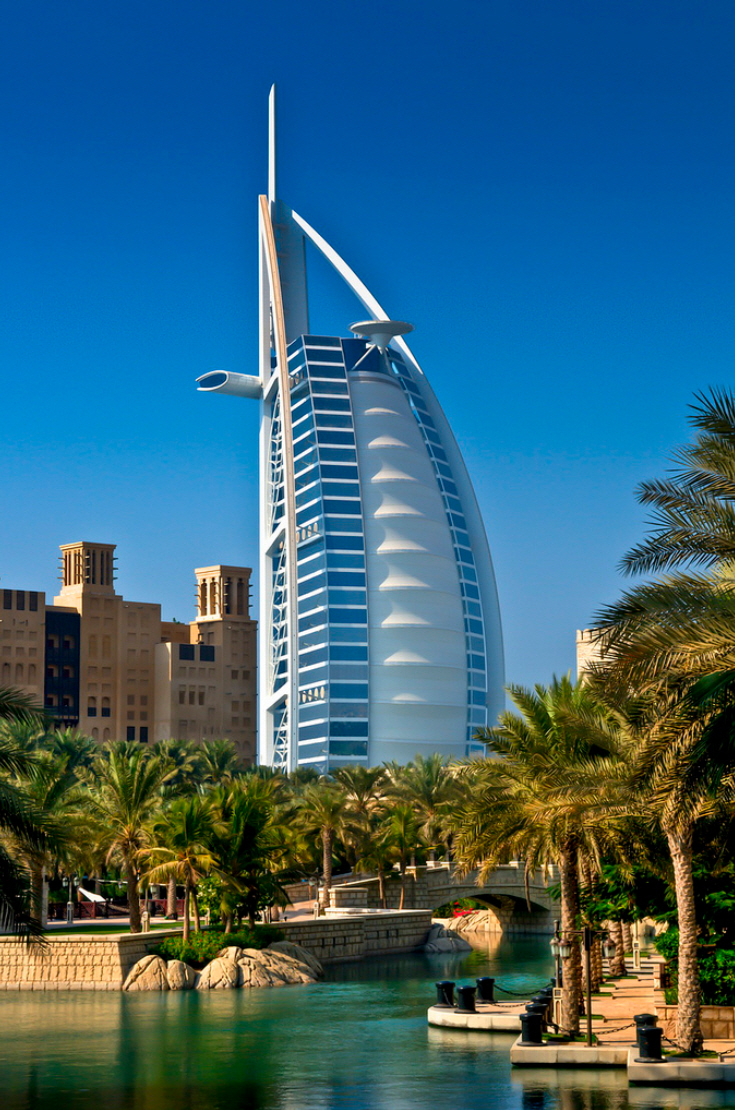 Burj al arab dubai uae amazing views for The sail hotel dubai