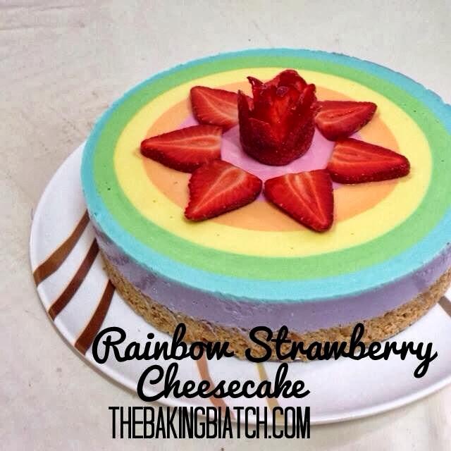 ... Biatch    by Cynthia Lim: Cynthia's Rainbow Strawberry Cheesecake