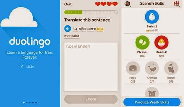 تطبيق تعليم اللغات للأندرويد DuoLingo مجاناً