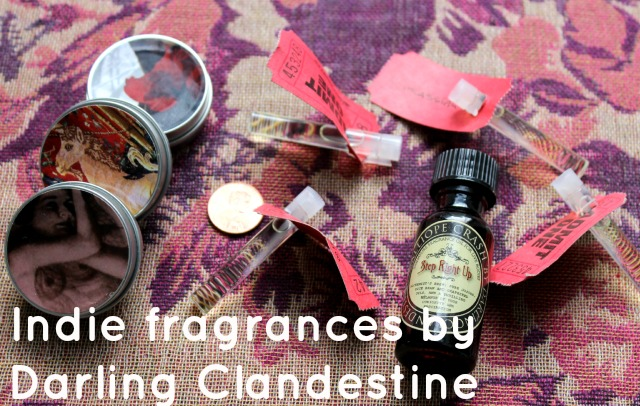 darling clandestine solid fragrance perfume tins oil bottle sample vial size