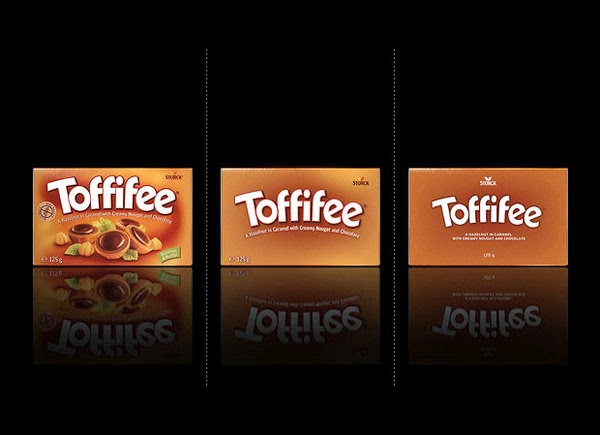 Toffifee bared Packaging design