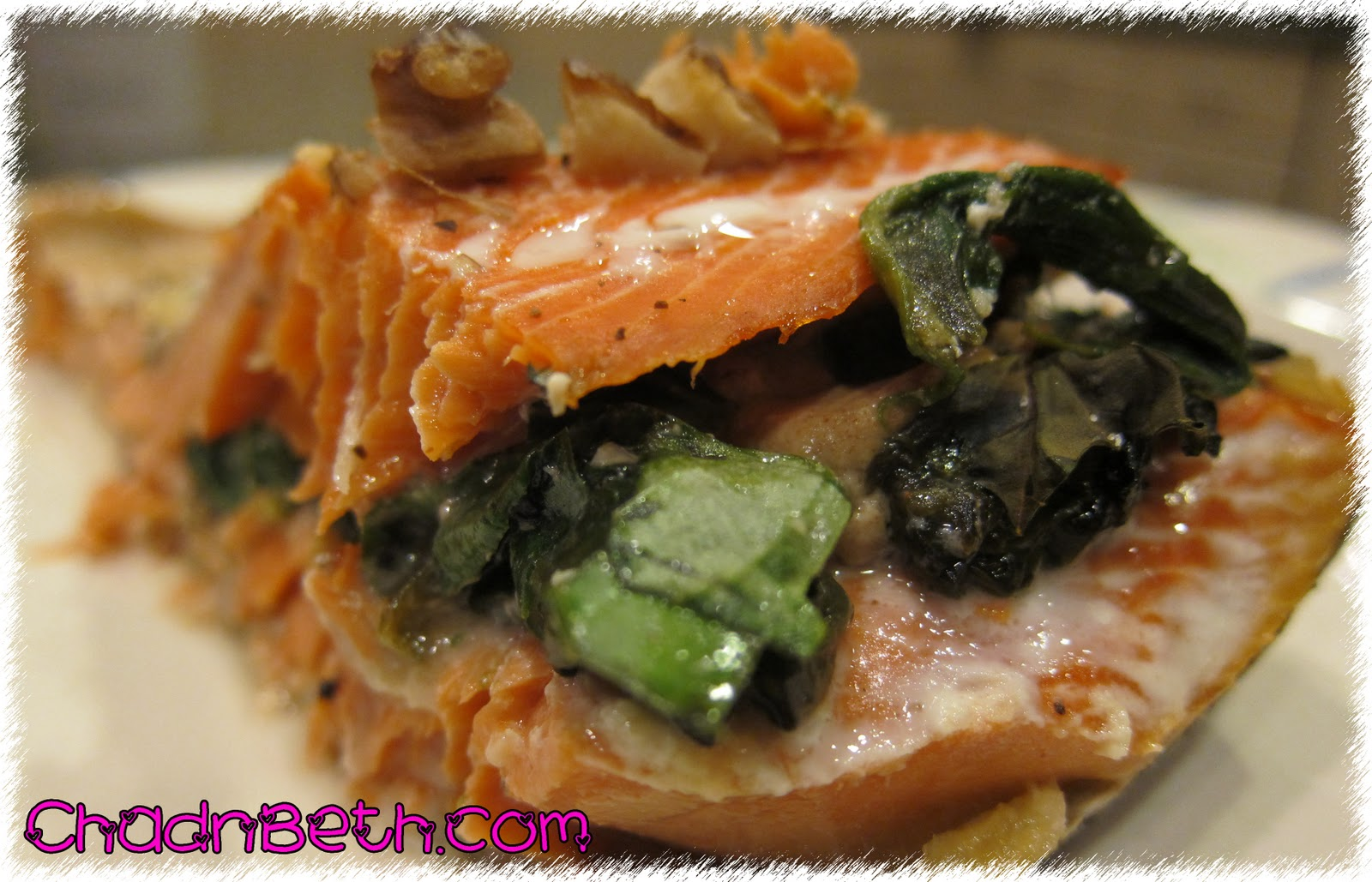 Chad and Beth: Spinach-Stuffed Baked Salmon
