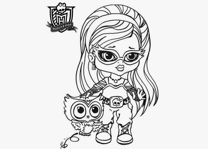 Monster High Babies for Coloring, part 2
