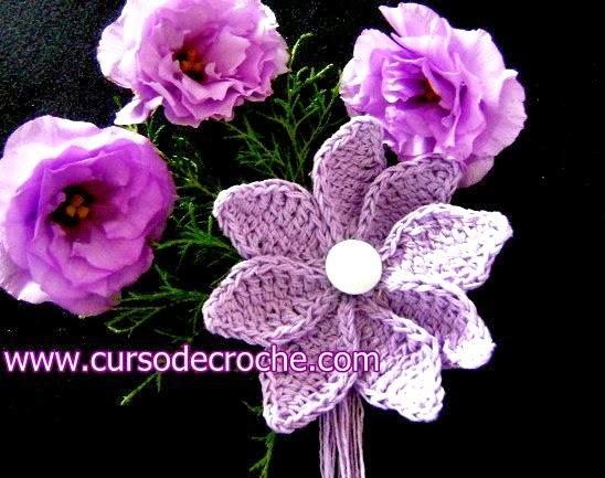 flores em croche 5 volumes com Edinir-Croche na loja curso de croche com frete gratis