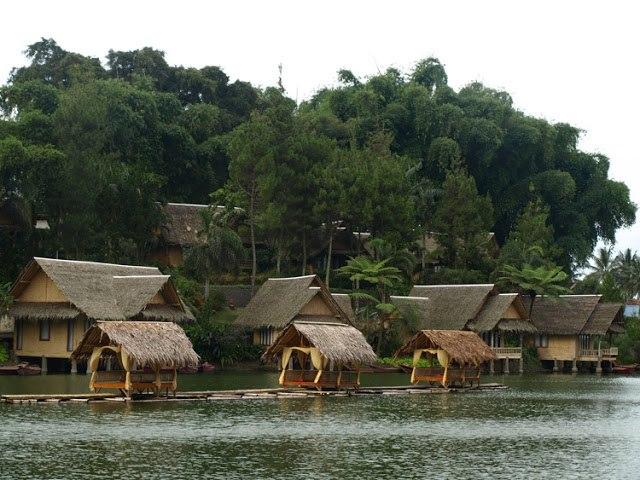Kampung Sampireun village in Garut, Indonesia