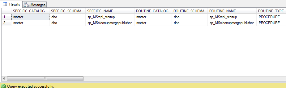 Sql query to get all stored procedure in a datbase