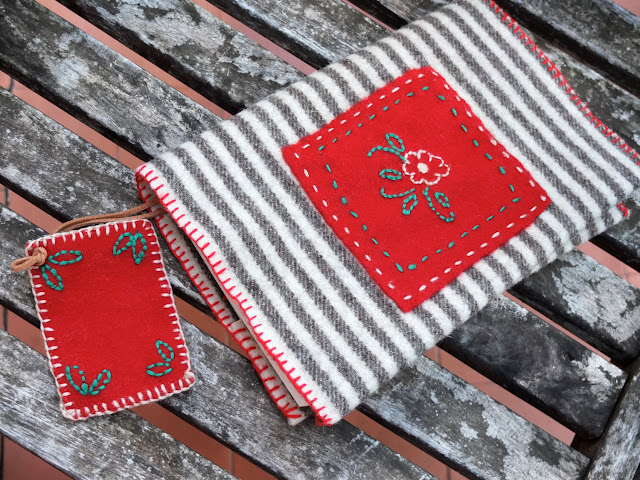 Embroidered book cover kit by Agulha Não Pica