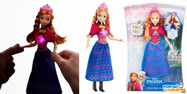 muñeca anna musical frozen mattel