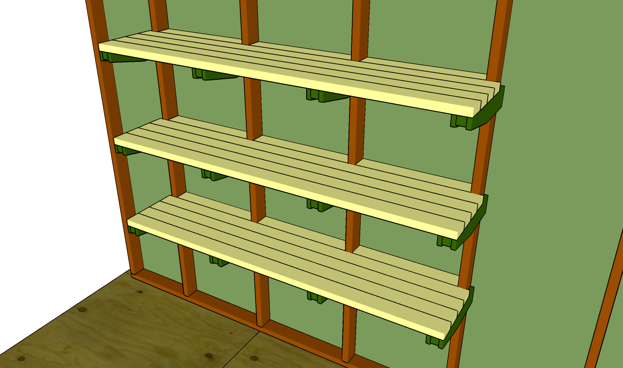 Wood Garage Storage Shelf Plans