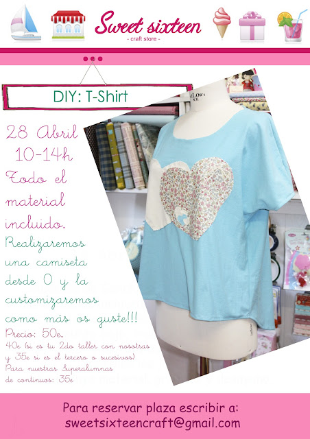 tallet camiseta en sweet sixteen craft store