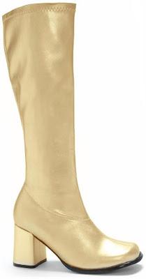 Golden Gogo Boots for Halloween