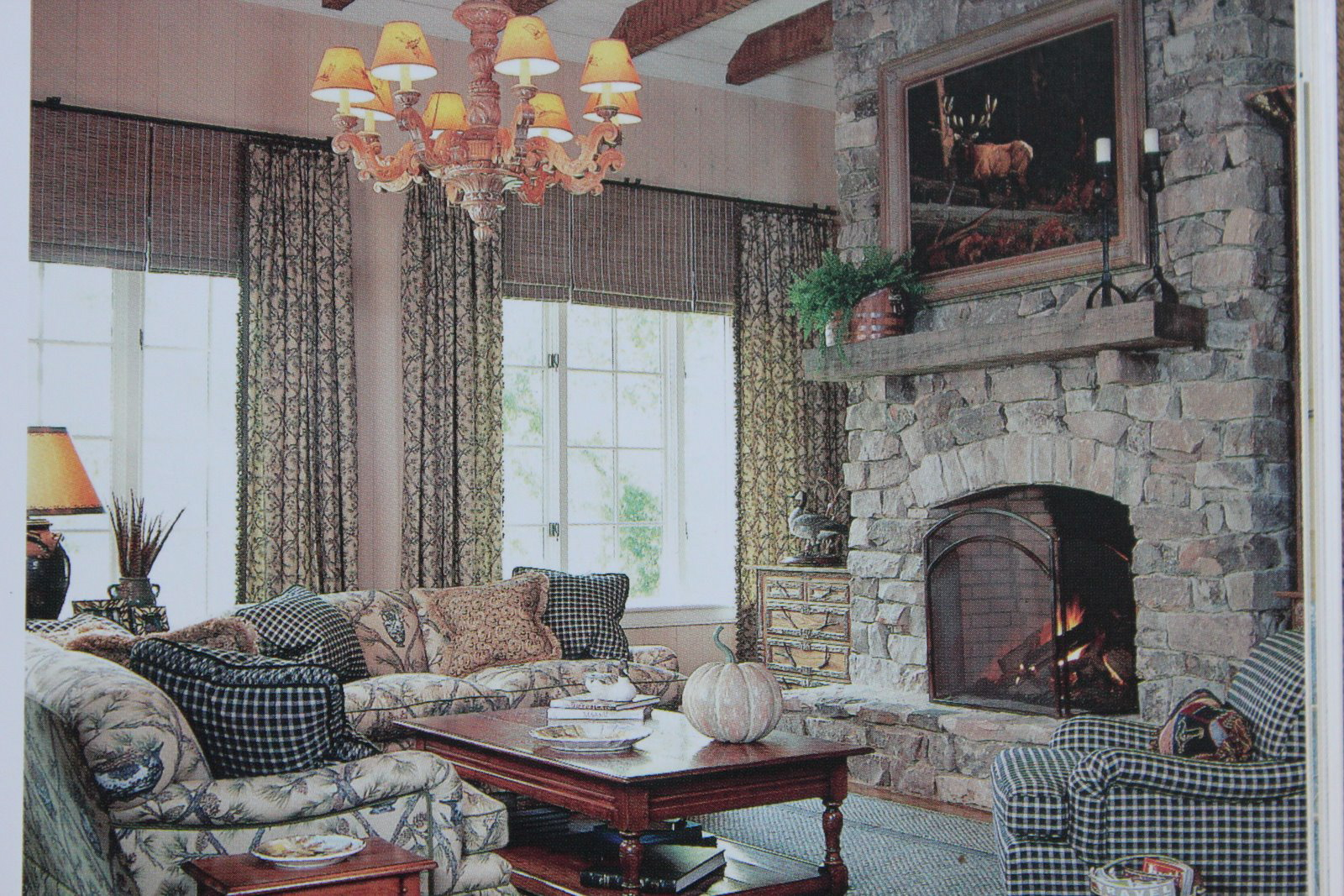 Southern rooms book review french country cottage for Living room of satoshi review