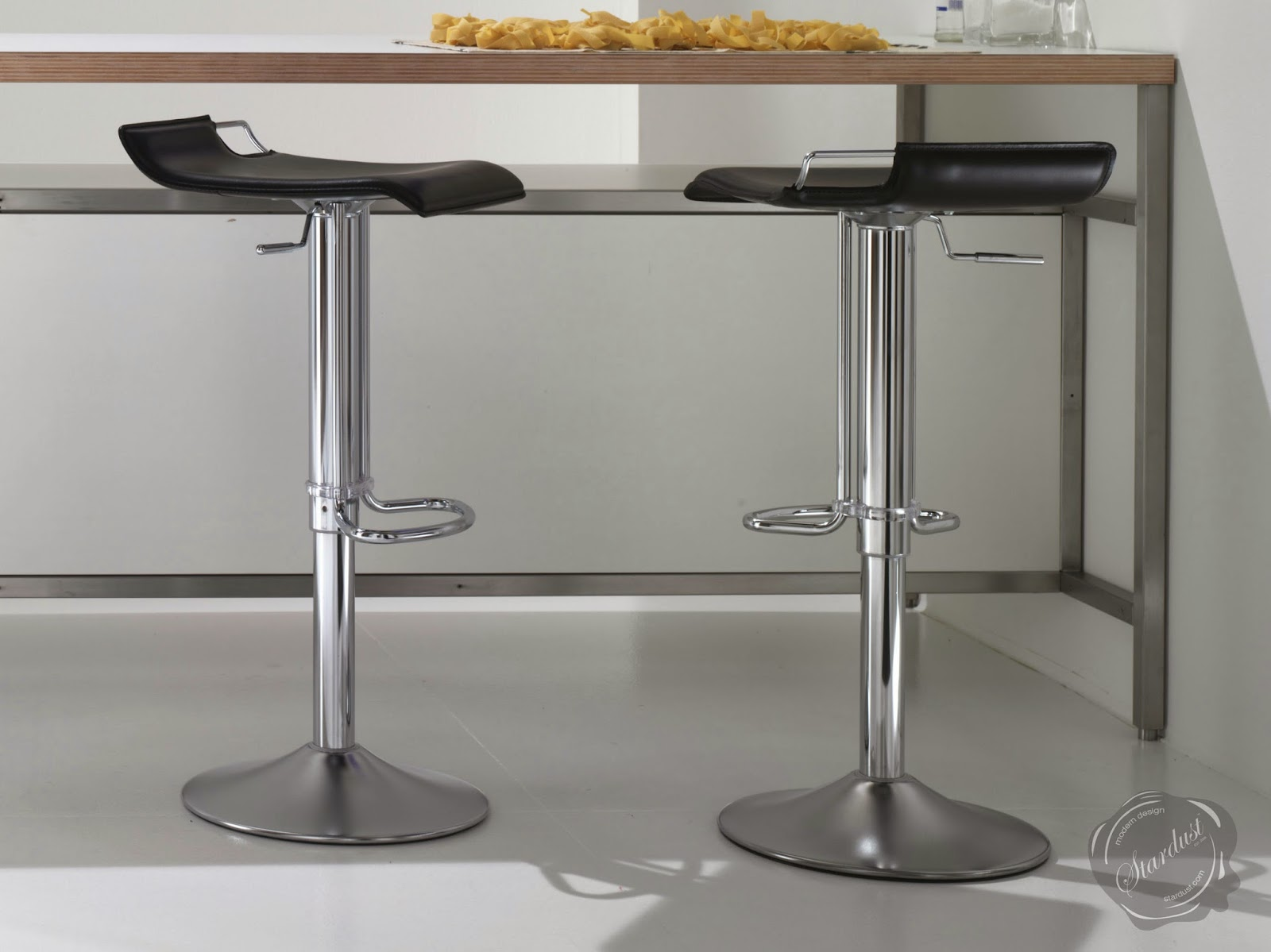 Hoppy Leather Bar Stool Adjustable Modern Kitchen Counter Barstools Bar Stool